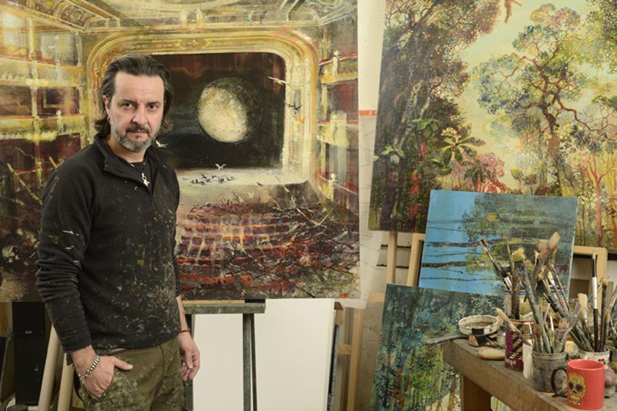 Eric Roux Fontaine dans son atelier